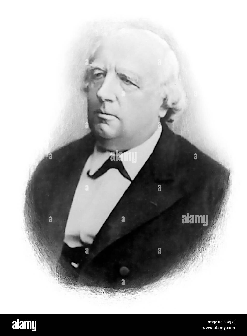 KARL WEIERSTRASS (1815-1887) German mathematician - Stock Image