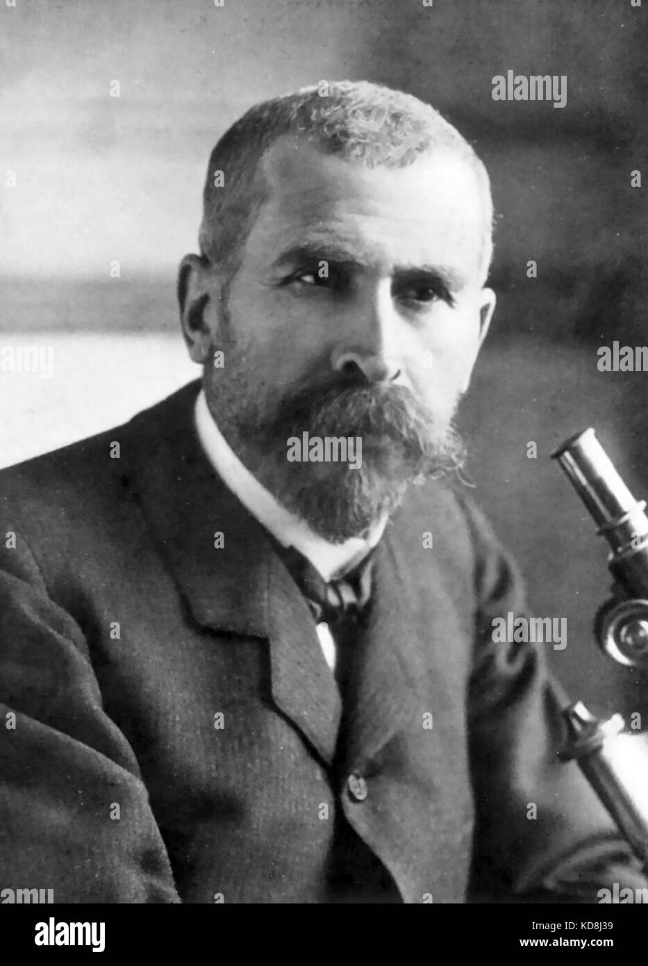 PIERRE ROUX (1853-1933) French physician and immunologist - Stock Image