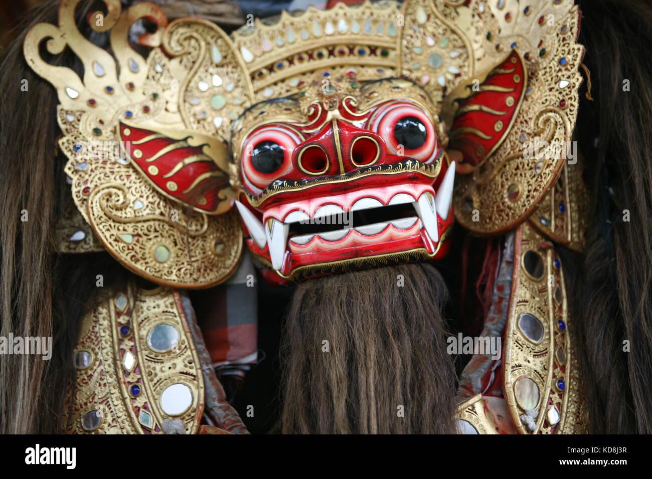 Balineschische Barong Tanzaufführung - Balinese barong dance performance - Stock Image