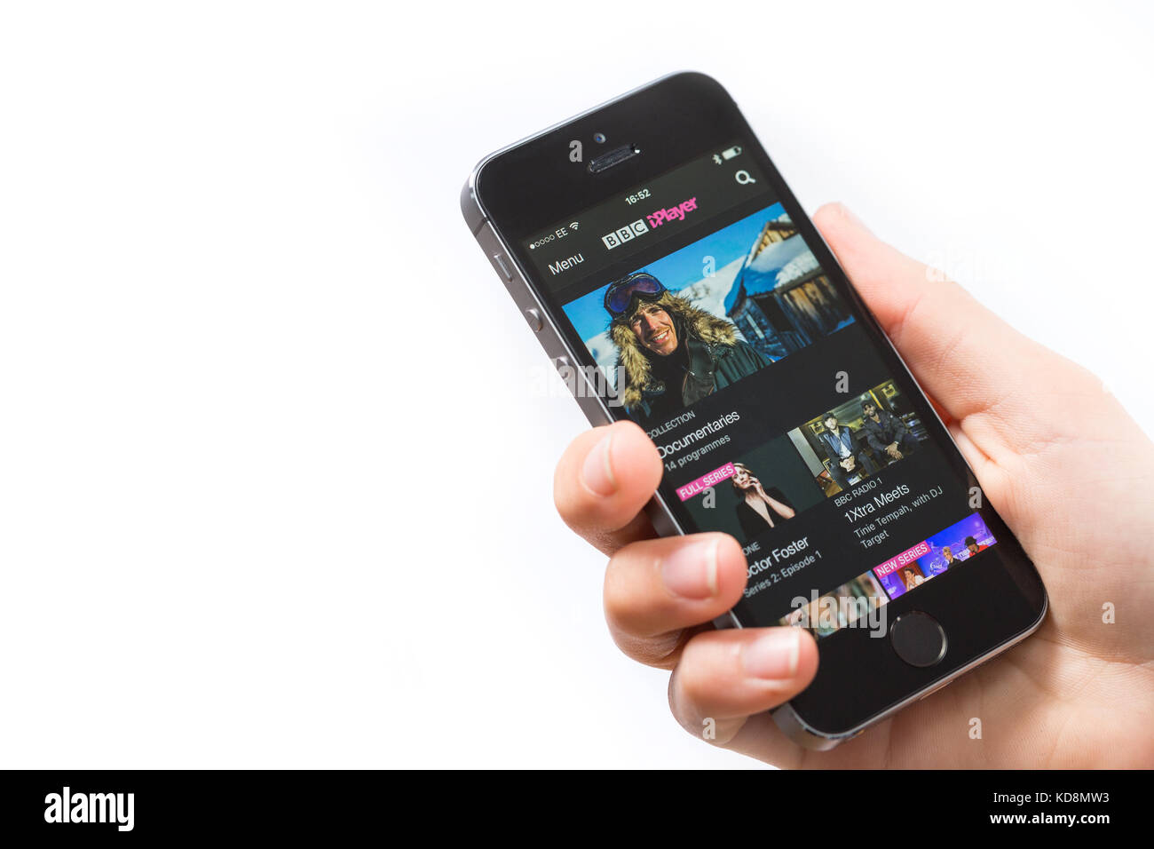 BBC iPlayer app on a mobile phone - Stock Image