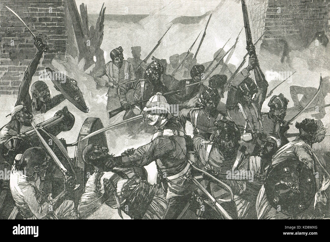 Siege of the British Residency in Kabul, 3 September 1879 - Stock Image