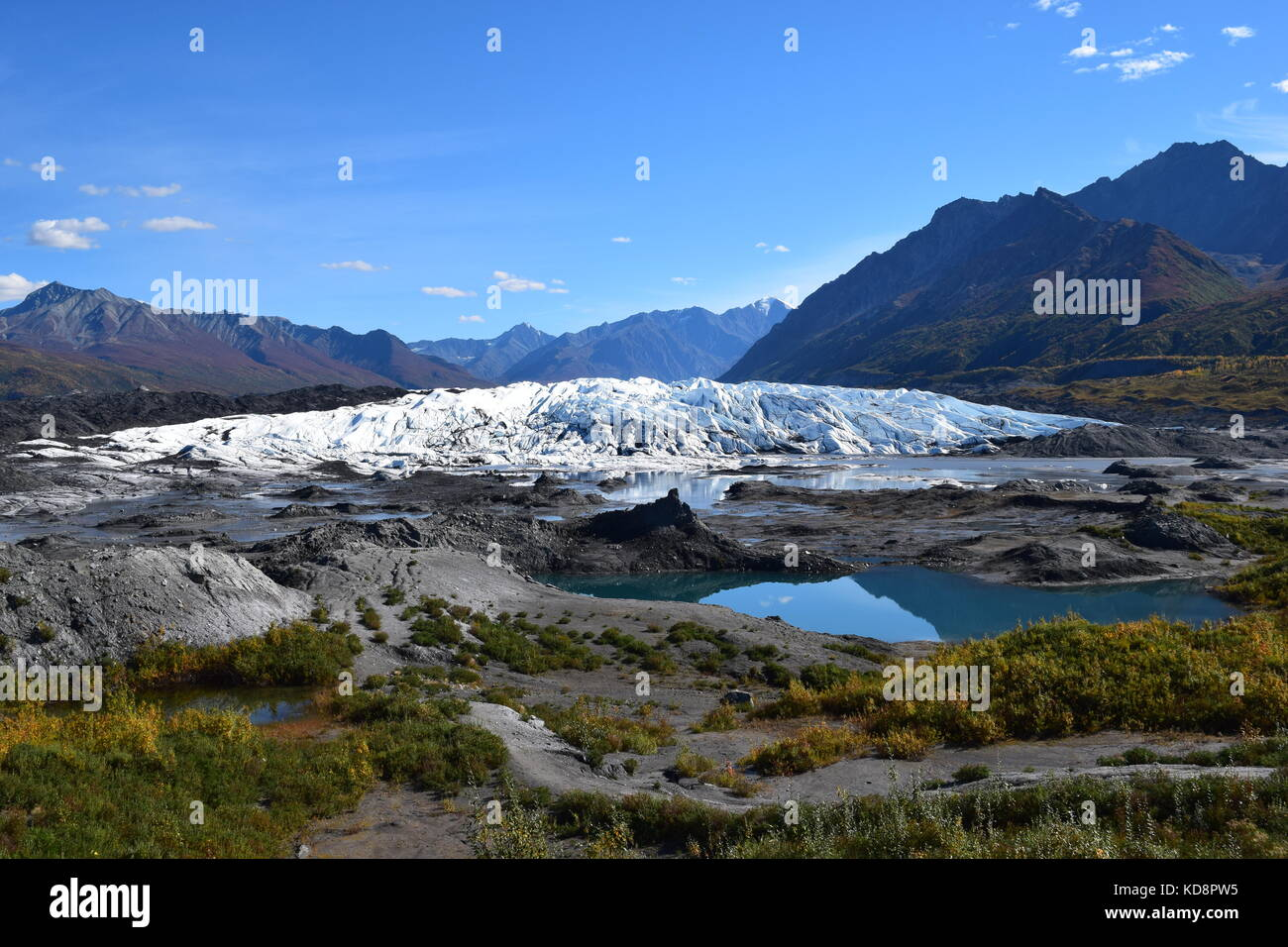 Matanuska Glacier in Alaska - The front - Stock Image