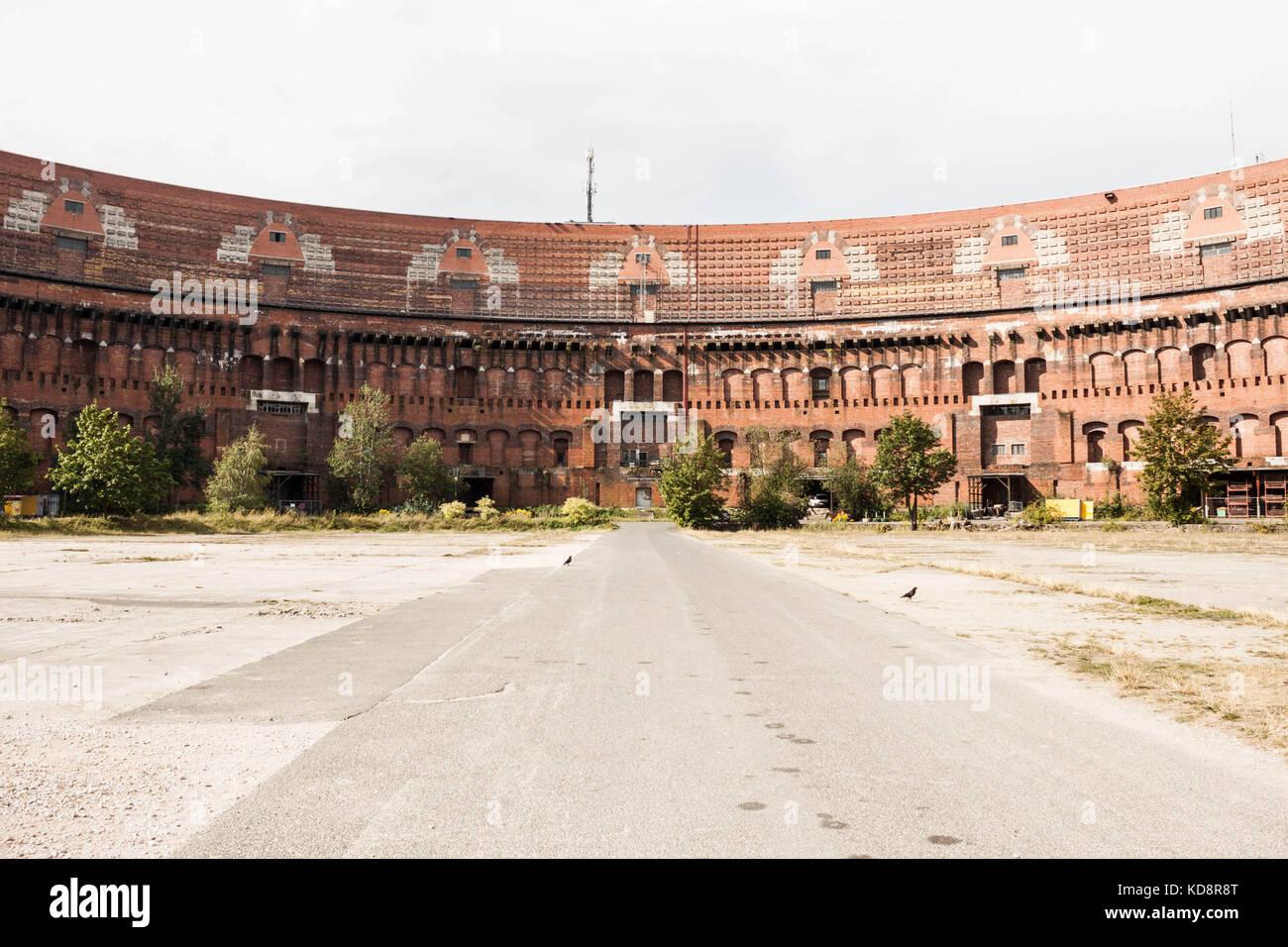 Nuremberg, Germany - August 28, 2016: Former Nazi Congress hall (Kongresshalle) building in Nuremberg, Germany. Stock Photo