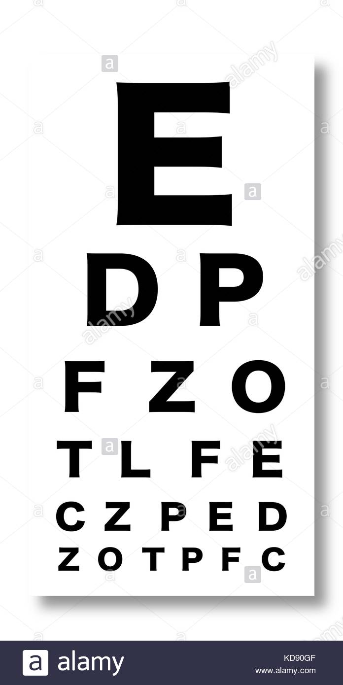 Eye test stock vector images alamy snellen style chart for testing eyes stock vector geenschuldenfo Image collections