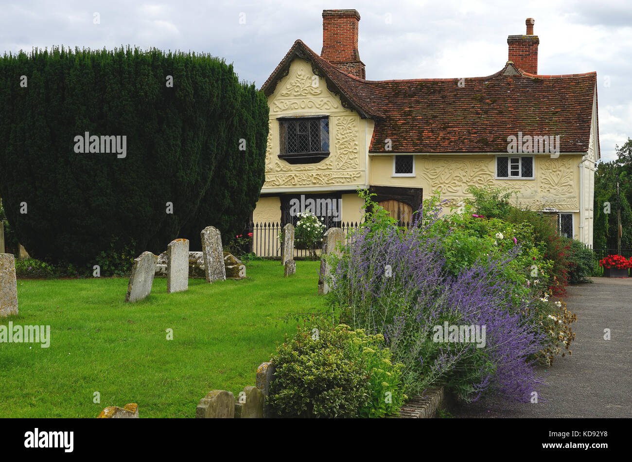 The pargeted 'Ancient House' at Clare,Suffolk Stock Photo