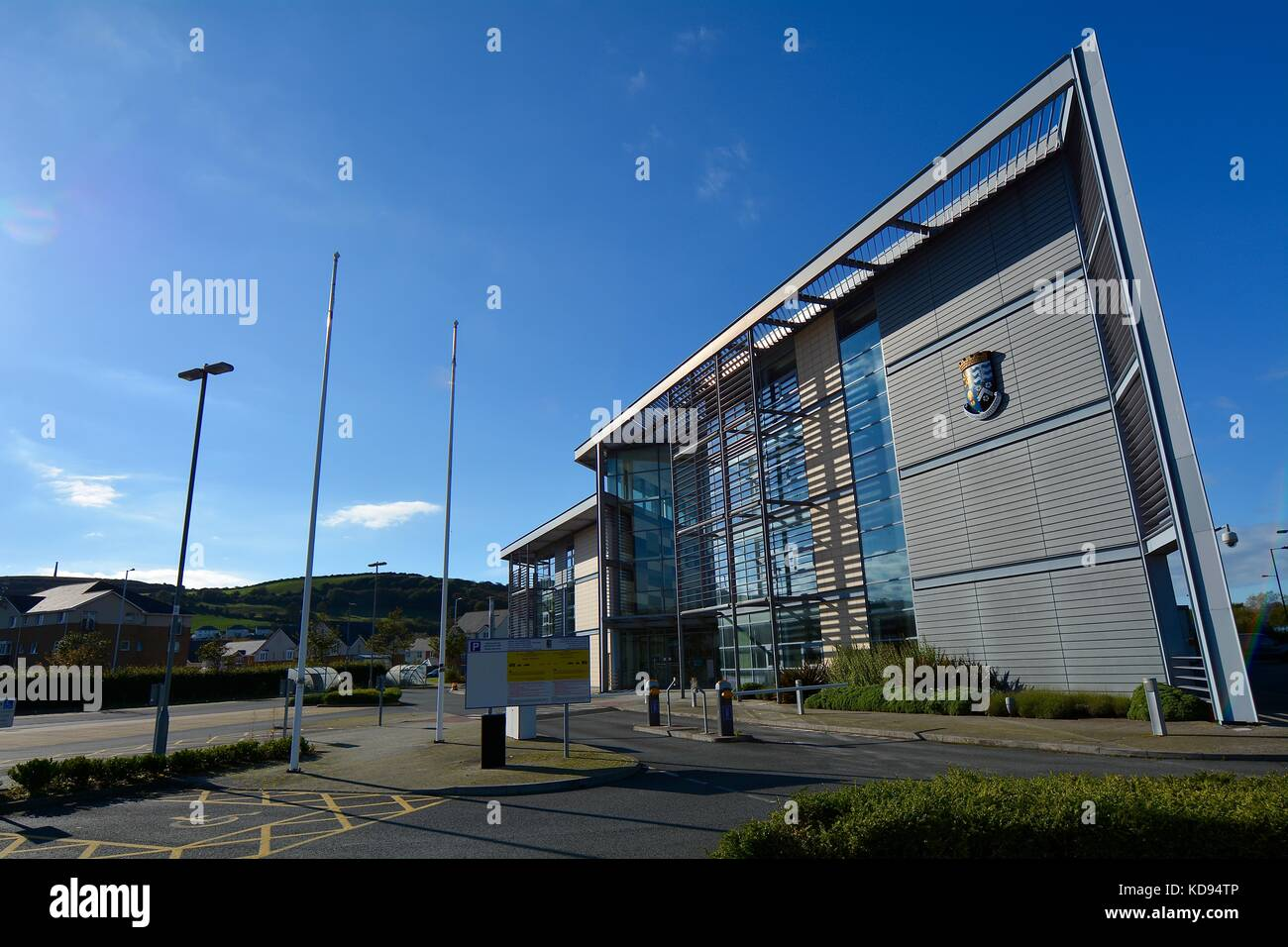 Aberystwyth Town Council - Stock Image