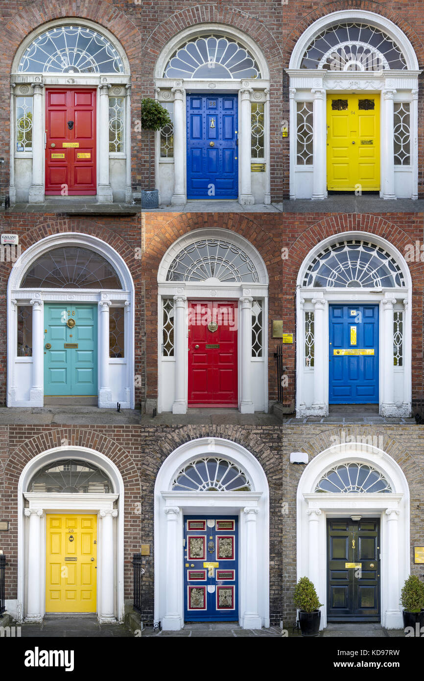 Blue Painted Front Doors Stock Photos Blue Painted Front Doors