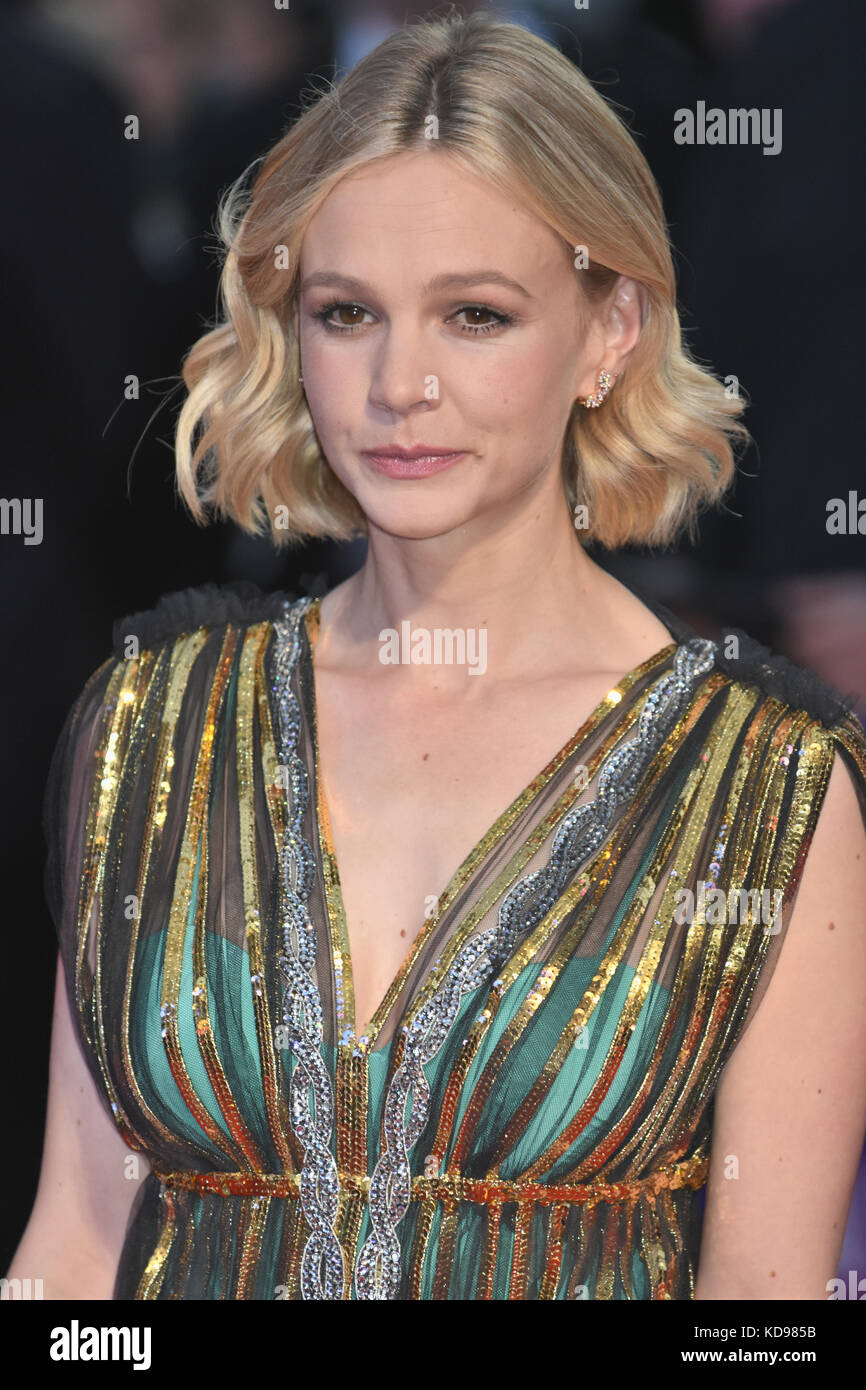 Carey Mulligan,'Mudbound',Royal Bank of Canada Gala,BFI London Film Festival,Odeon Leicester Square,London - Stock Image