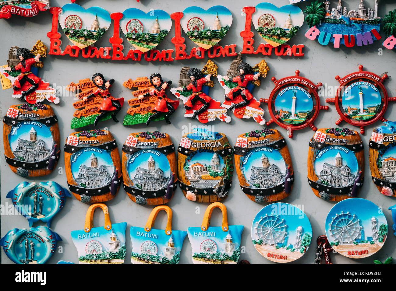 Georgian Souvenirs Stock Photos Georgian Souvenirs Stock: September 7, 2017: Fridge