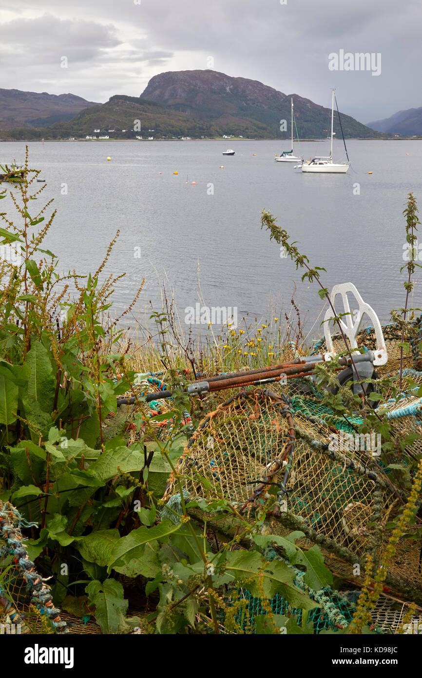 Discarded Lobster pots at Meon Pear, Plockton, Ross and Cromarty, Plockton - Stock Image