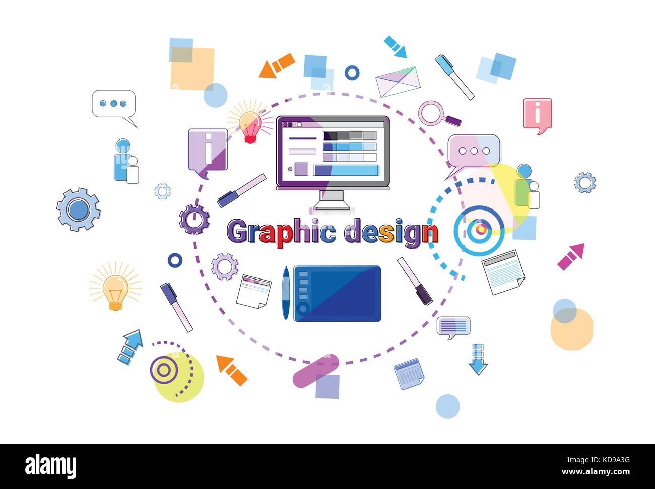 Graphic Design Idea Concept Creative Process Web Development Stock Vector Image Art Alamy