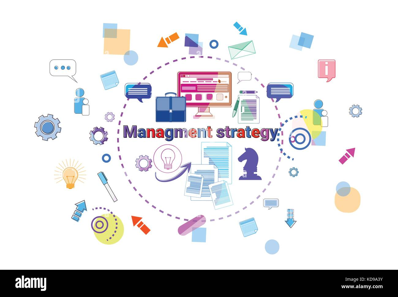 Business Management Strategy Concept Leadership Banner Stock Vector Image Art Alamy