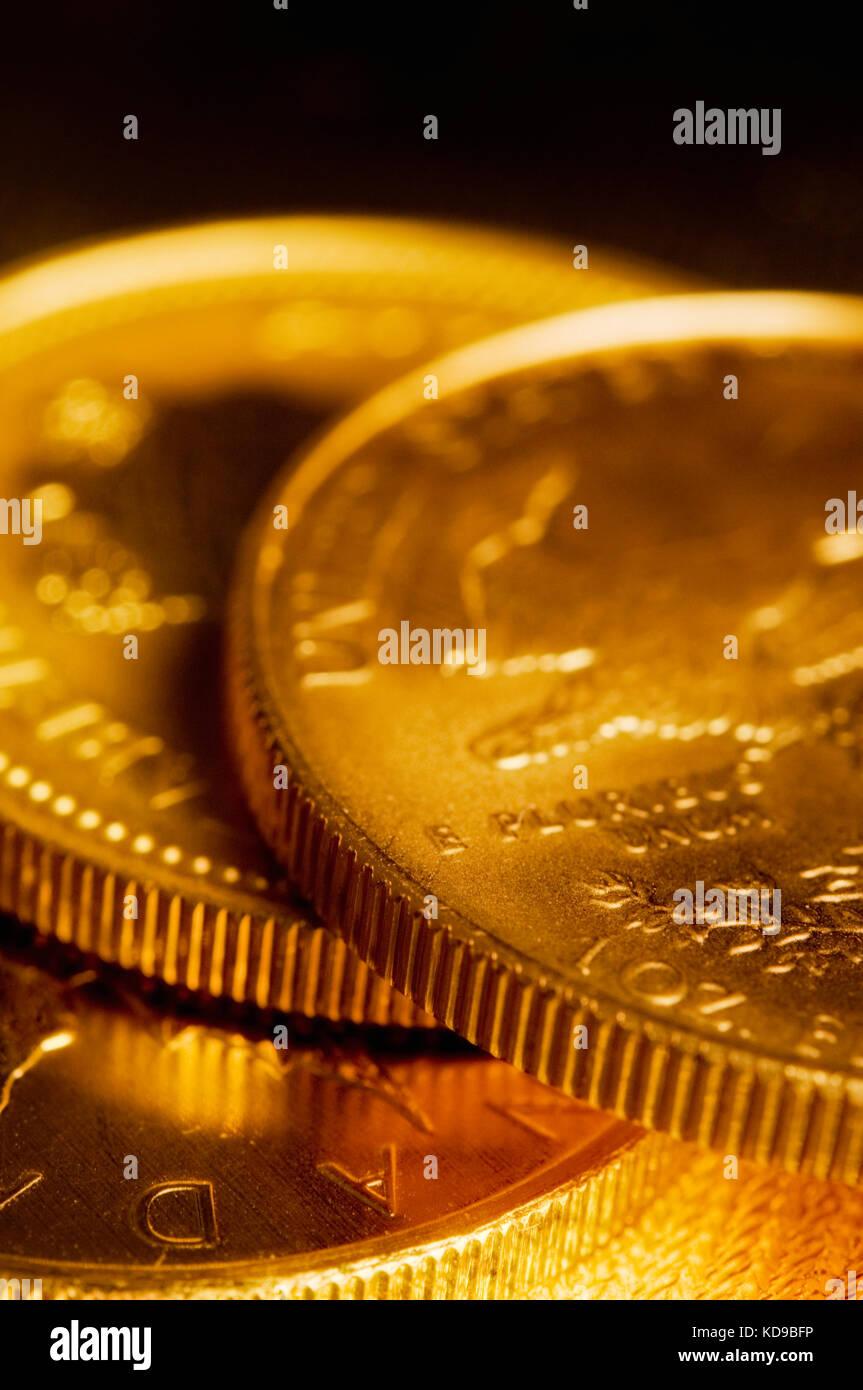 gold bullion stacked - Stock Image