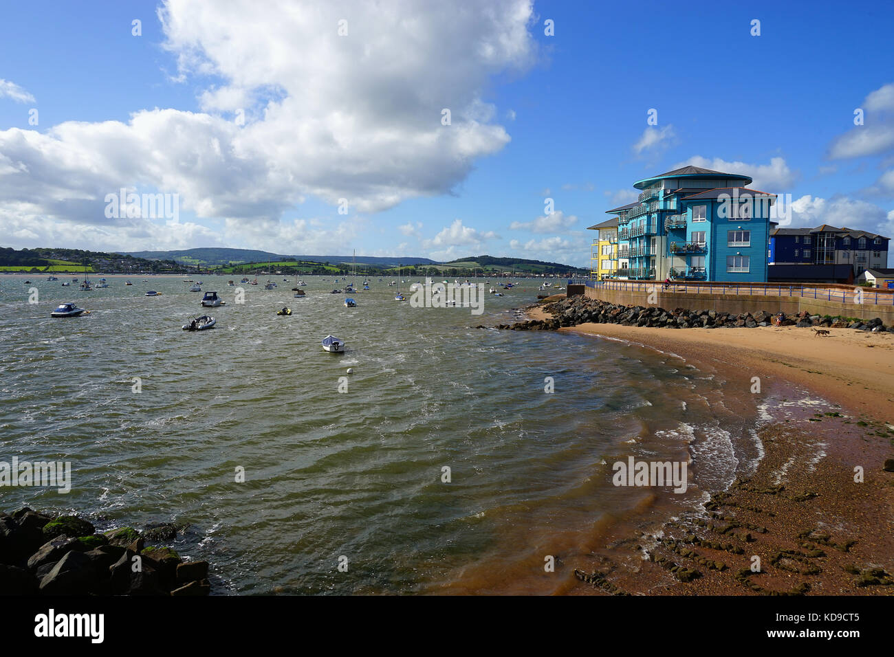Apartments at the Point, Exmouth - Stock Image