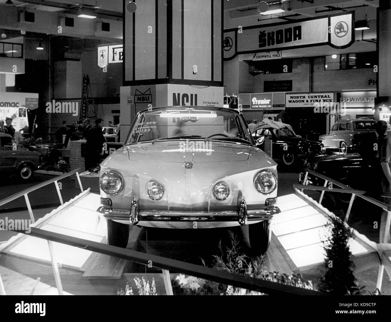 VW type 34 launch at 1961 Frankfurt motor show - Stock Image