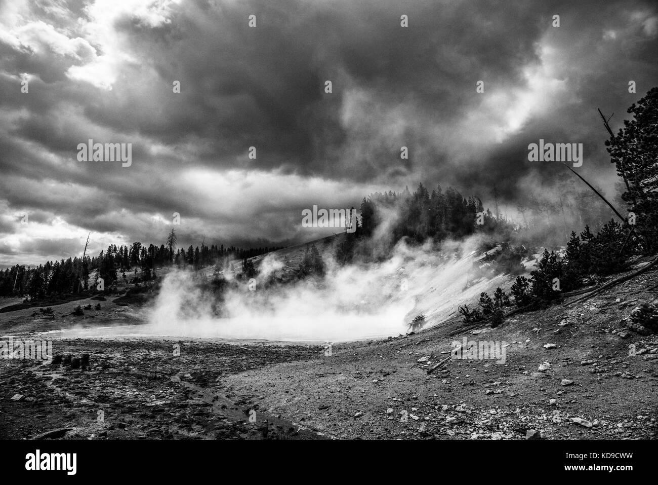 Mud Volcano, Yellowstone National Park, Wyoming - Stock Image