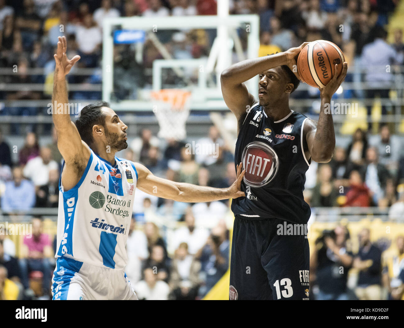 Turin, Italy 7th october 2017. Lamar Patterson during the Serie A Basketball match Fiat Torino Auxilium vs Dinamo Stock Photo