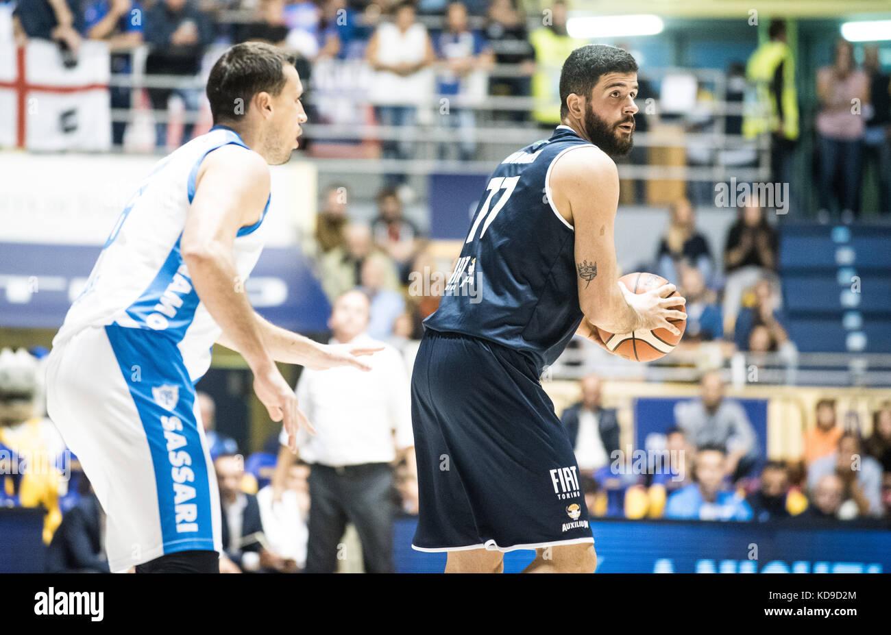 Antonio Iannuzzi Turin, Italy 7th october 2017. Serie A an Basketball match Fiat Torino Auxilium vs Dinamo Sassari Stock Photo