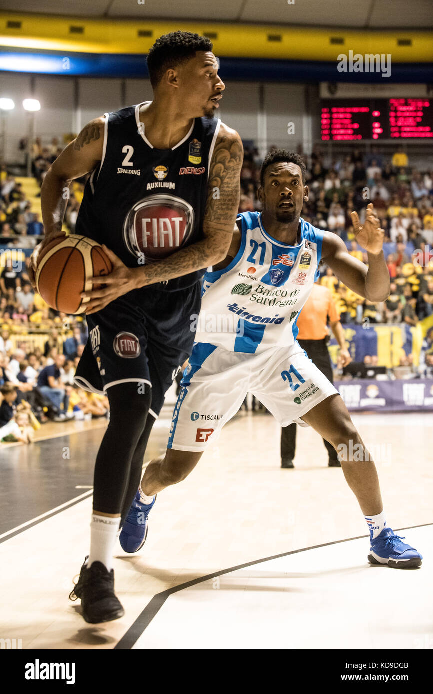 Turin, Italy 7th october 2017. Diante Garret during the Serie A an Basketball match Fiat Torino Auxilium vs Dinamo Stock Photo