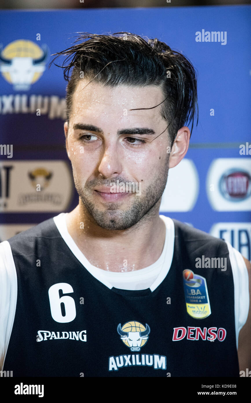 Turin, Italy 7th october 2017. Aleksandar Vujačić during the Serie A Basketball match Fiat Torino Auxilium vs Dinamo Stock Photo