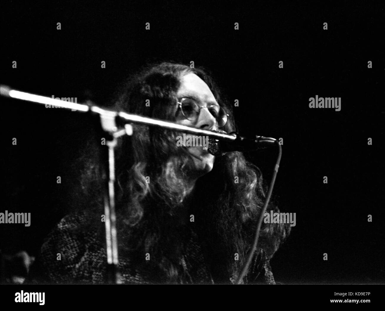 Founding band member John Fiddler performs with the UK blues rock duo Medicine Head at Plymouth Guildhall on 29 - Stock Image
