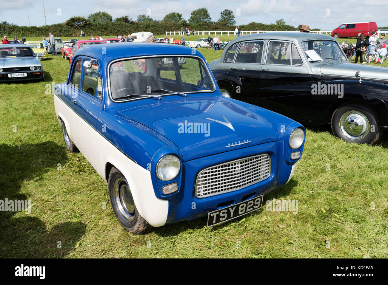 a 1960's ford popular - Stock Image
