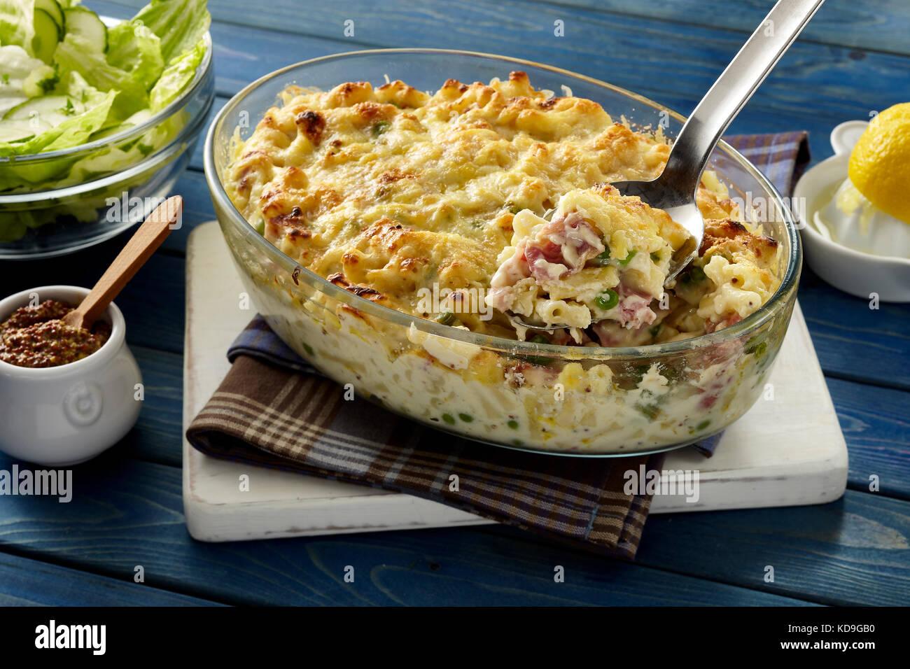 Macaroni and cheese - Stock Image
