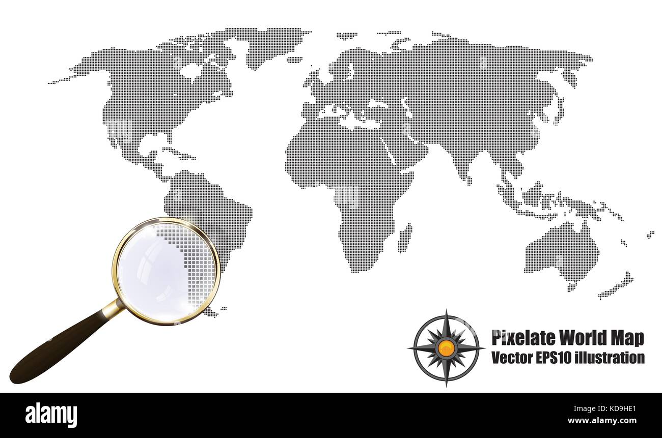 World map silhouette surface earth stock vector images alamy abstract pixelated map black and white halftone grunge effect vector illustration world map silhouette gumiabroncs Image collections