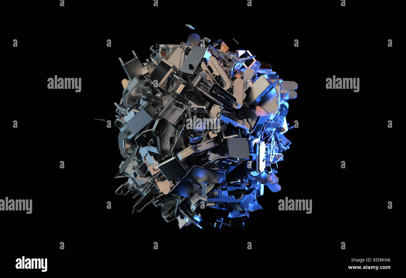 artificial metal ball - Stock Image