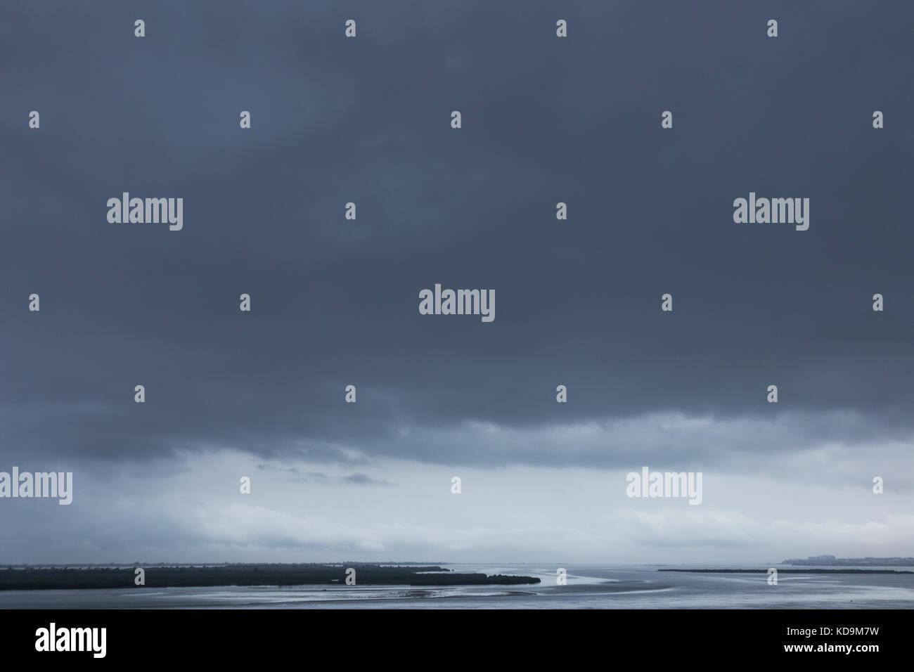 Maritim storm coming to mussulo island, Luanda, Angola - Stock Image