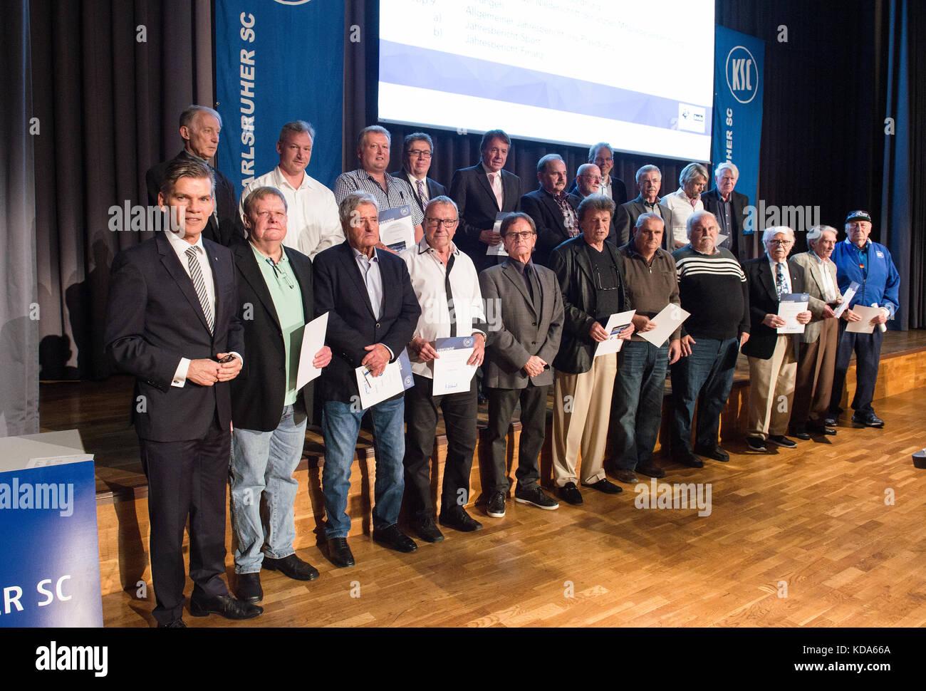 Ehrungen der langjaehrigen KSC-Mitglieder.  GES/ Fussball/ 3. Liga: Karlsruher SC/ Ordentliche Mitgliederversammlung, - Stock Image