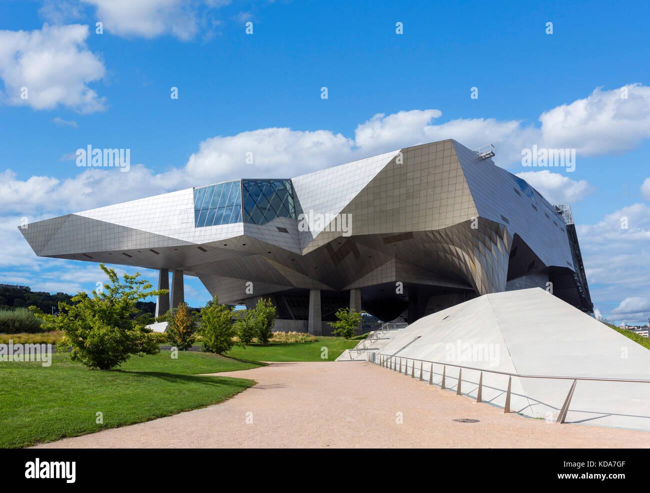 Musee des Confluences, Presqu'Ile, Lyon, Auvergne-Rhone-Alpes, France - Stock Image