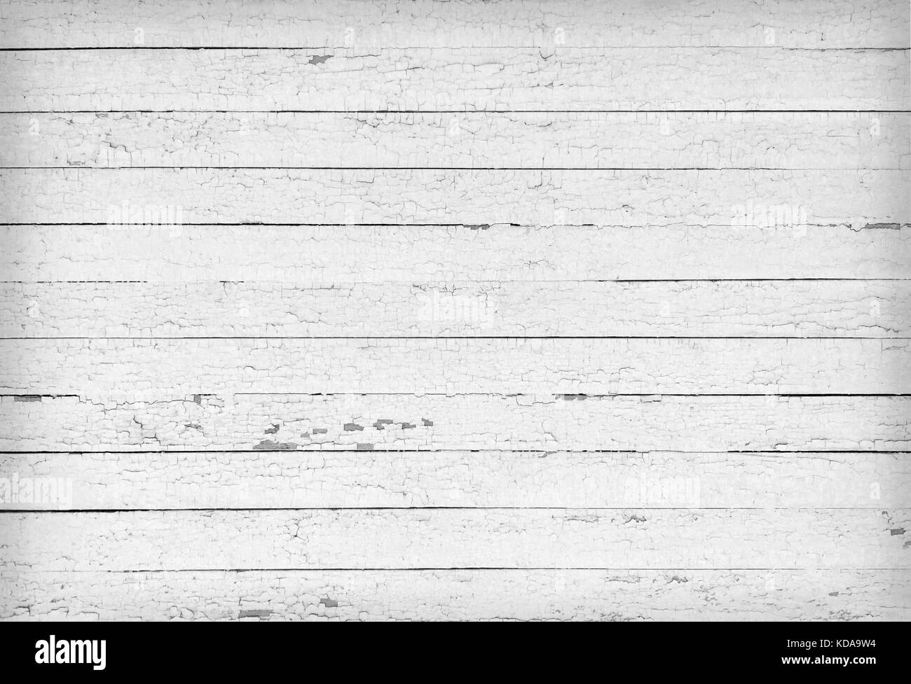 Black and white texture of blank wooden planks - Stock Image