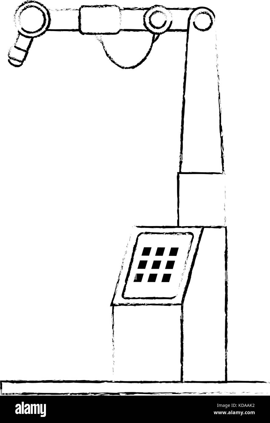 assembly machine isolated icon - Stock Image