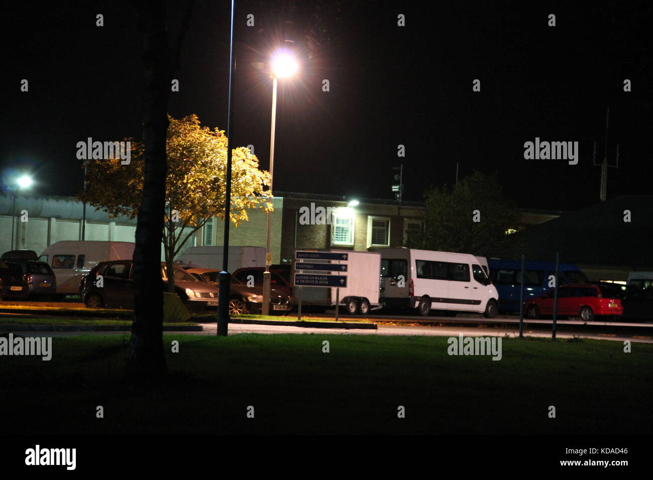 480d8b5b3f Several white security vans and trailers full of equipment belonging to the  specially-trained prison