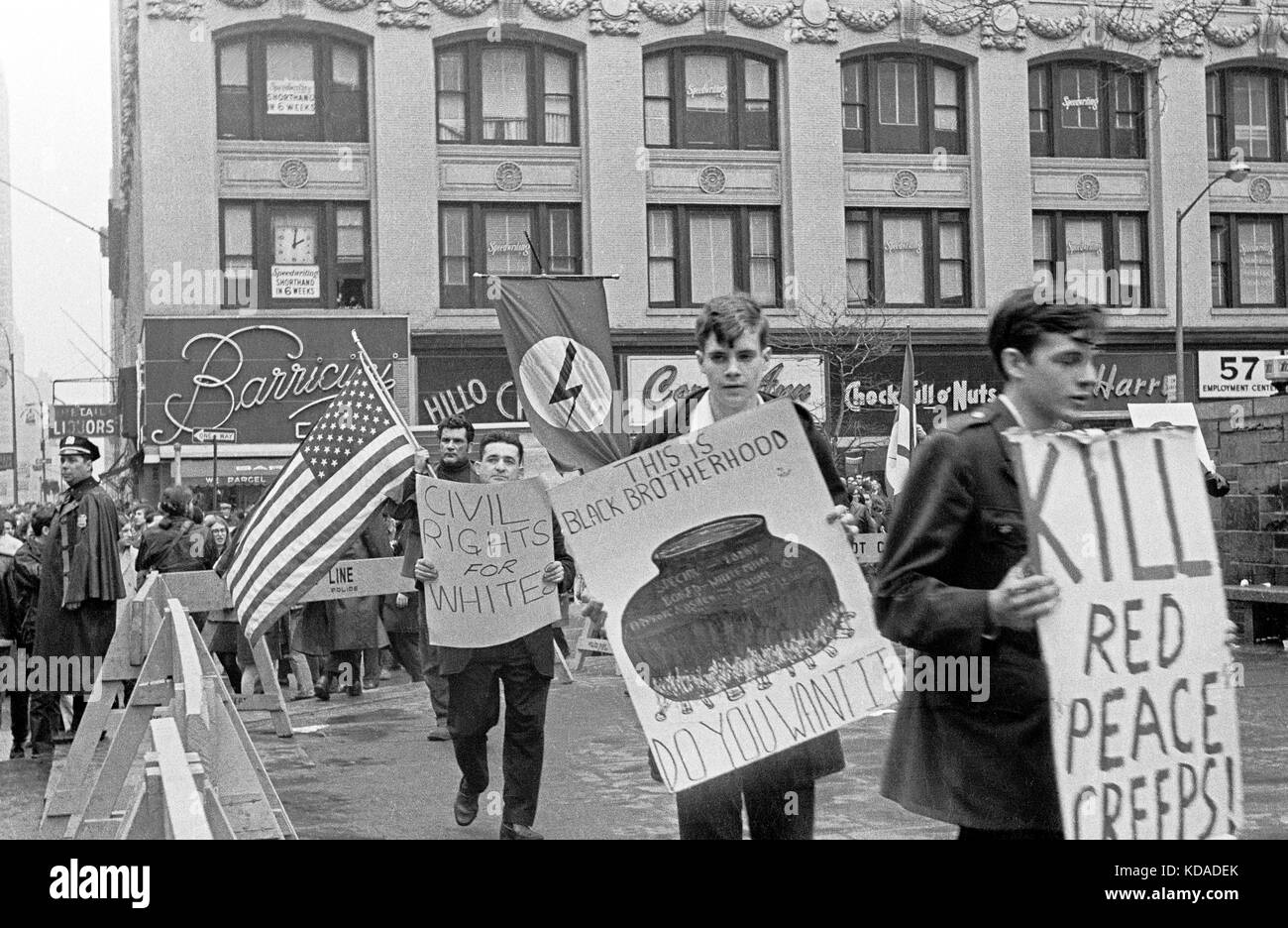 Demonstration in New York city, April, 1969. - Stock Image