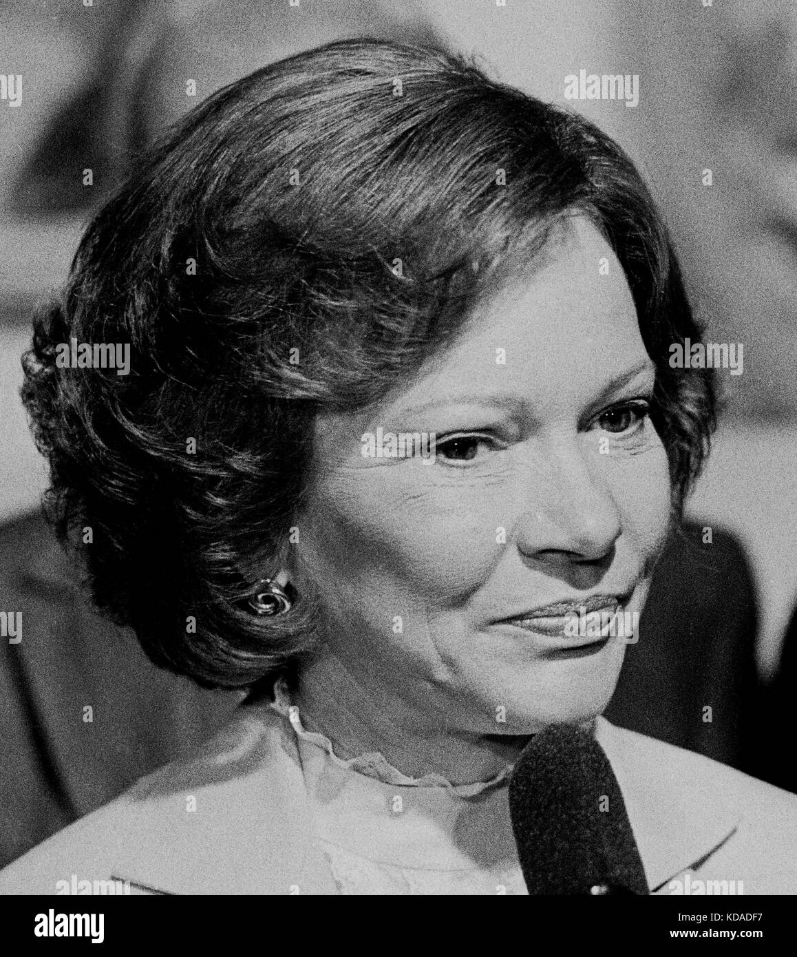 first lady, Rosalynn Carter, speaking in San Francisco, California - Stock Image