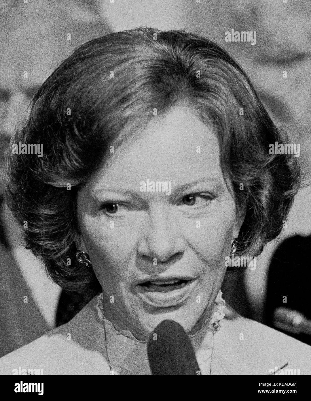 Rosalynn Carter, first lady,, speaking in San Francisco, California - Stock Image
