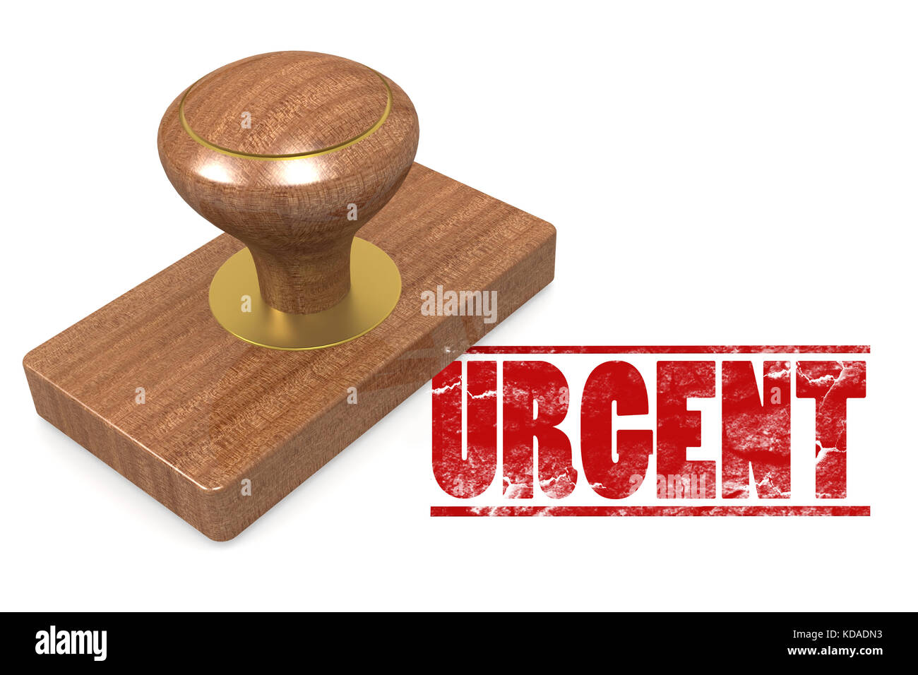 Urgent wooded seal stamp image with hi-res rendered artwork that could be used for any graphic design. - Stock Image