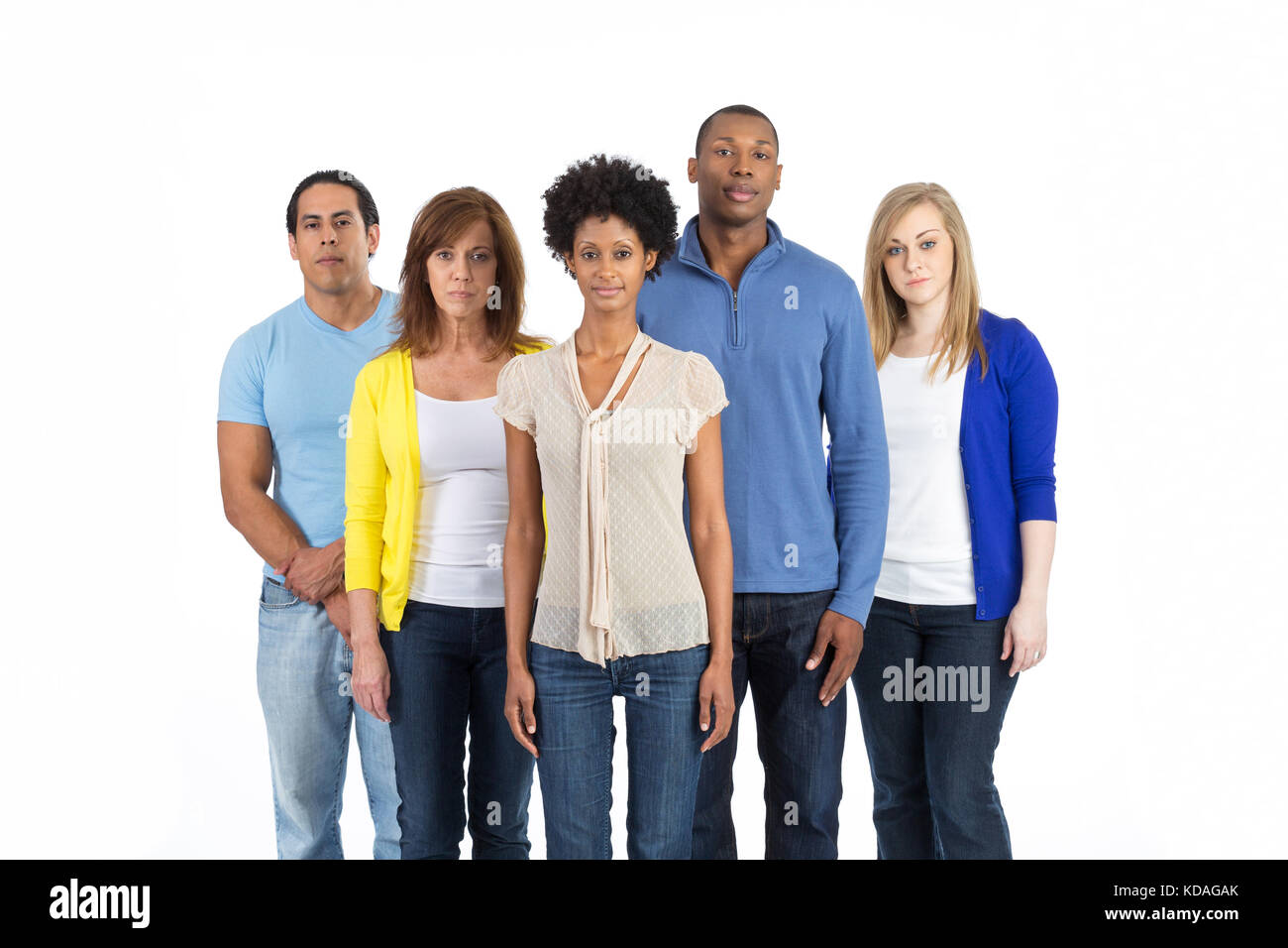 Diverse group of friends - Stock Image