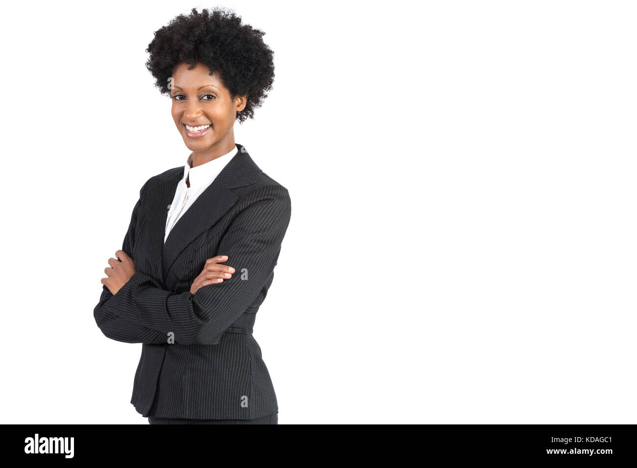 Handsome African American business woman. - Stock Image