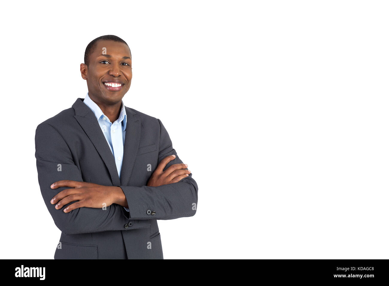 Handsome African American businessman - Stock Image