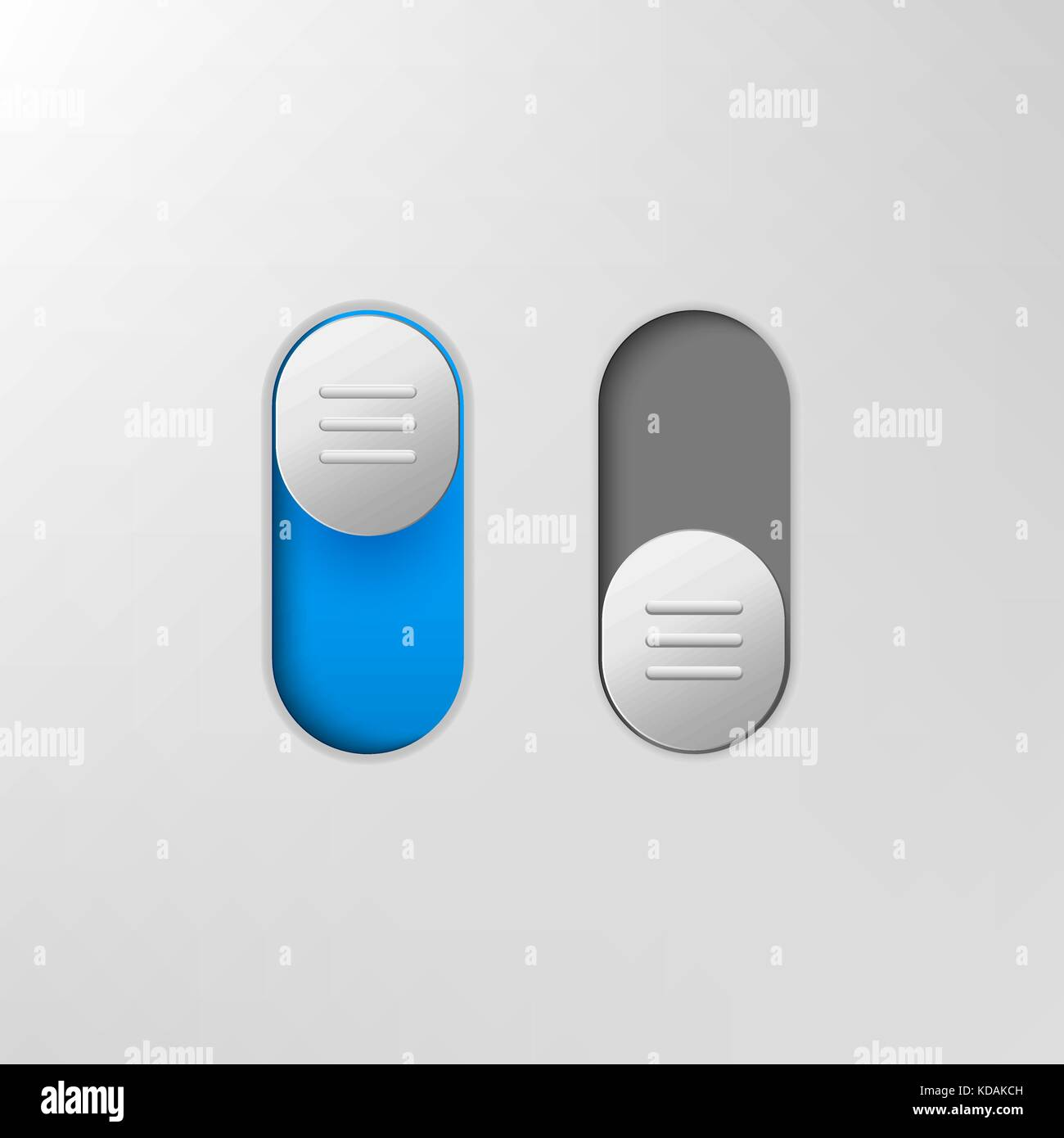 Phone switch icon. On off toggle for design applications. Phone vector slider bar. - Stock Vector