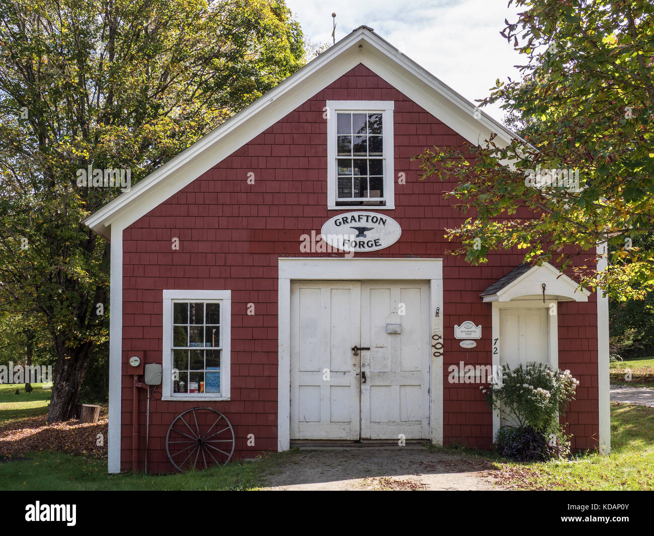 Grafton Forge and Blacksmith Shop, Grafton, Vermont. - Stock Image
