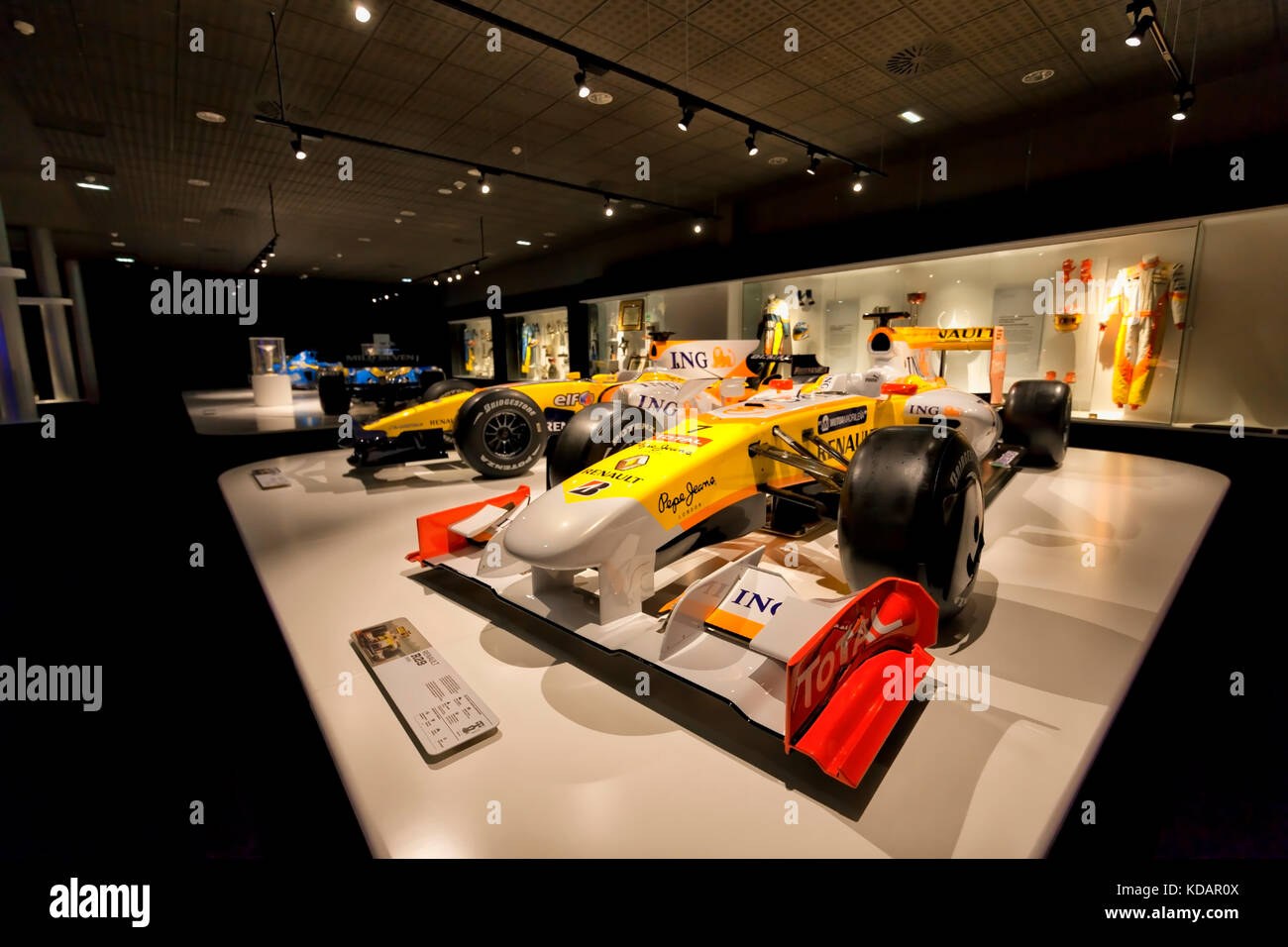 Renaults of F1 with which competed Fernando Alonso in years 2008 and 2009, and in the end, the two renaults with - Stock Image