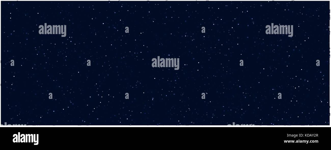 Space stars background. Light night sky vector - Stock Vector