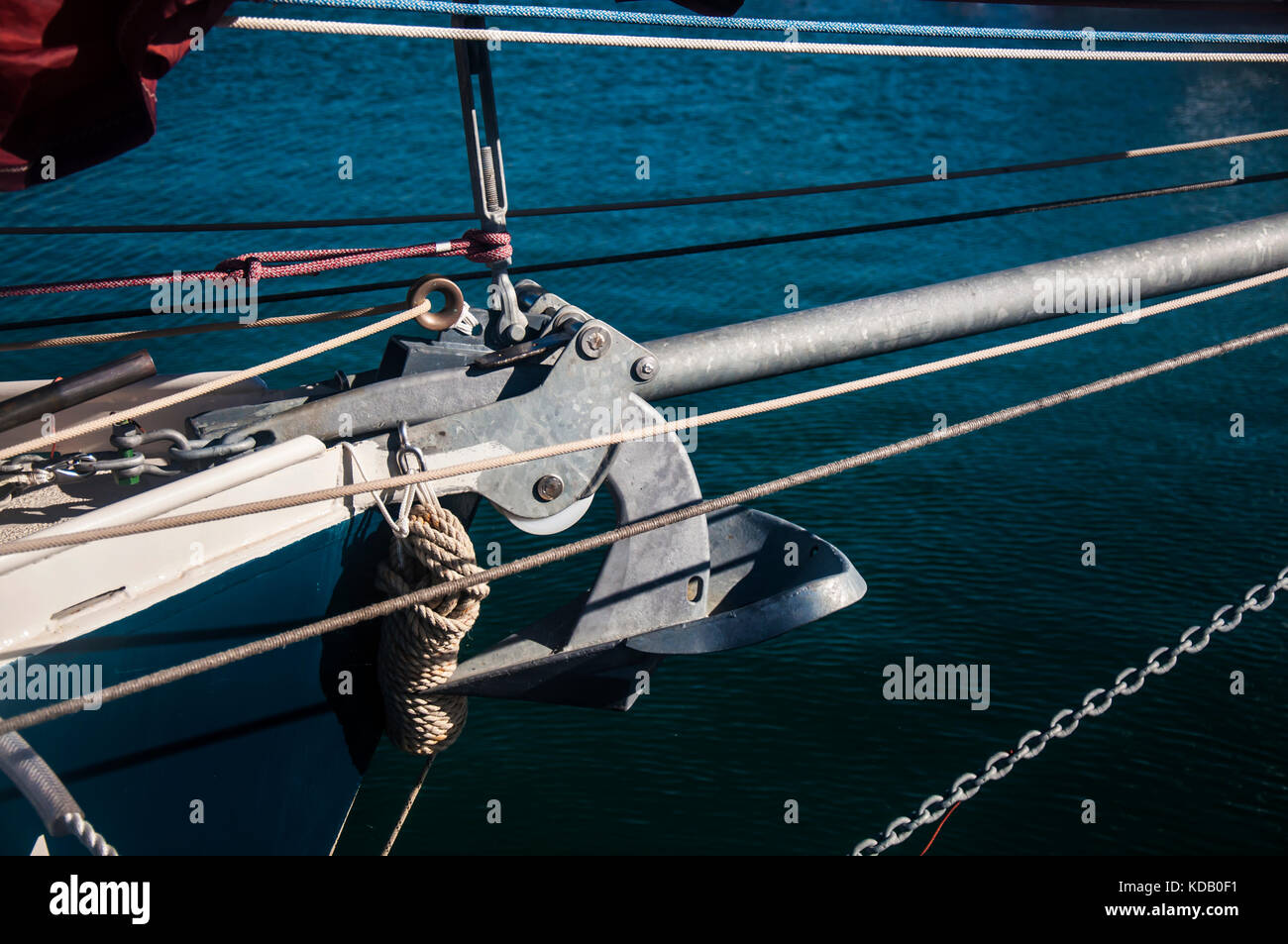 Bow of the traditional sailing boat. - Stock Image