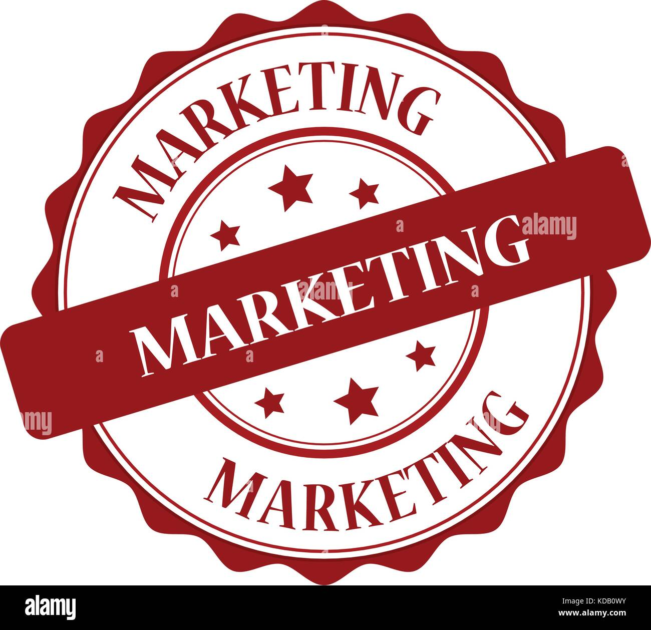 Marketing red stamp illustration - Stock Image