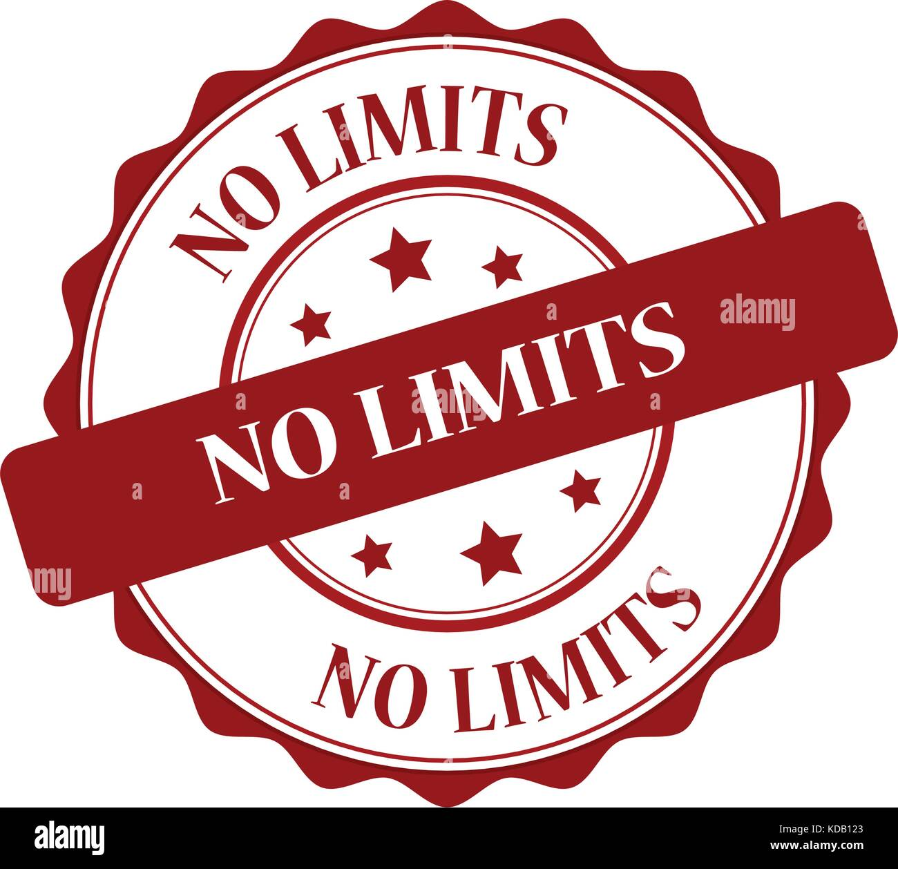 No limits red stamp illustration - Stock Image
