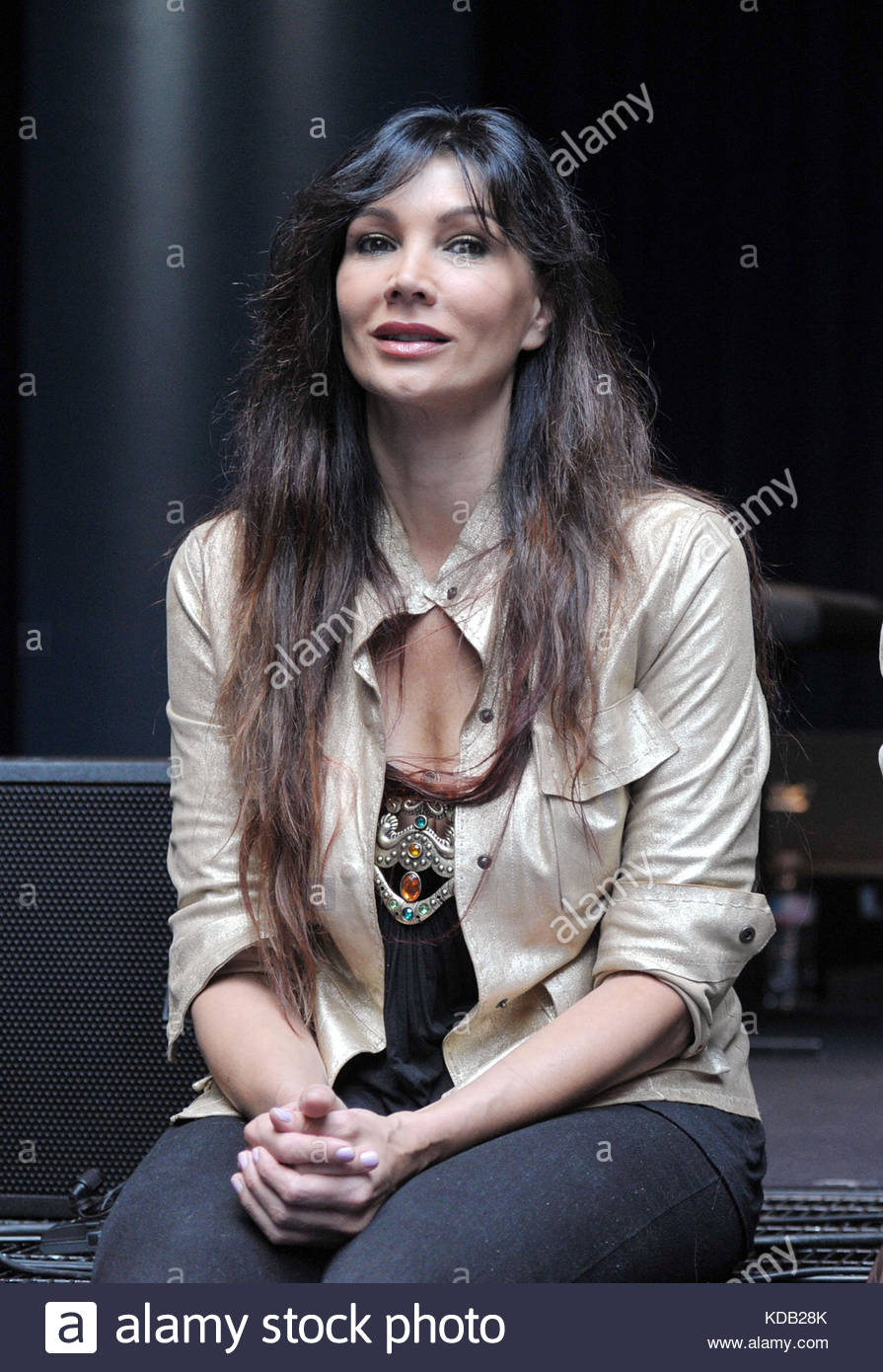 luisa corna at the presentation of the new album prometheus and pandora by sananda maitreya, formerly known as Terence Stock Photo